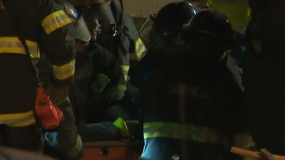 Raw: Woman Rescued From Philly Collapse Site