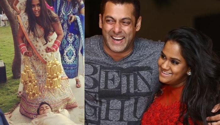 Arpita Khan Posing With Shirtless Salman Khan Just Before Her Chooda Ceremony Is A Priceless Memory - Yahoo India News