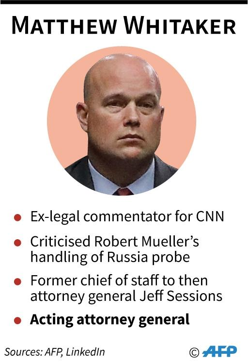 Profile of US acting attorney general Matthew Whitaker (AFP Photo/)