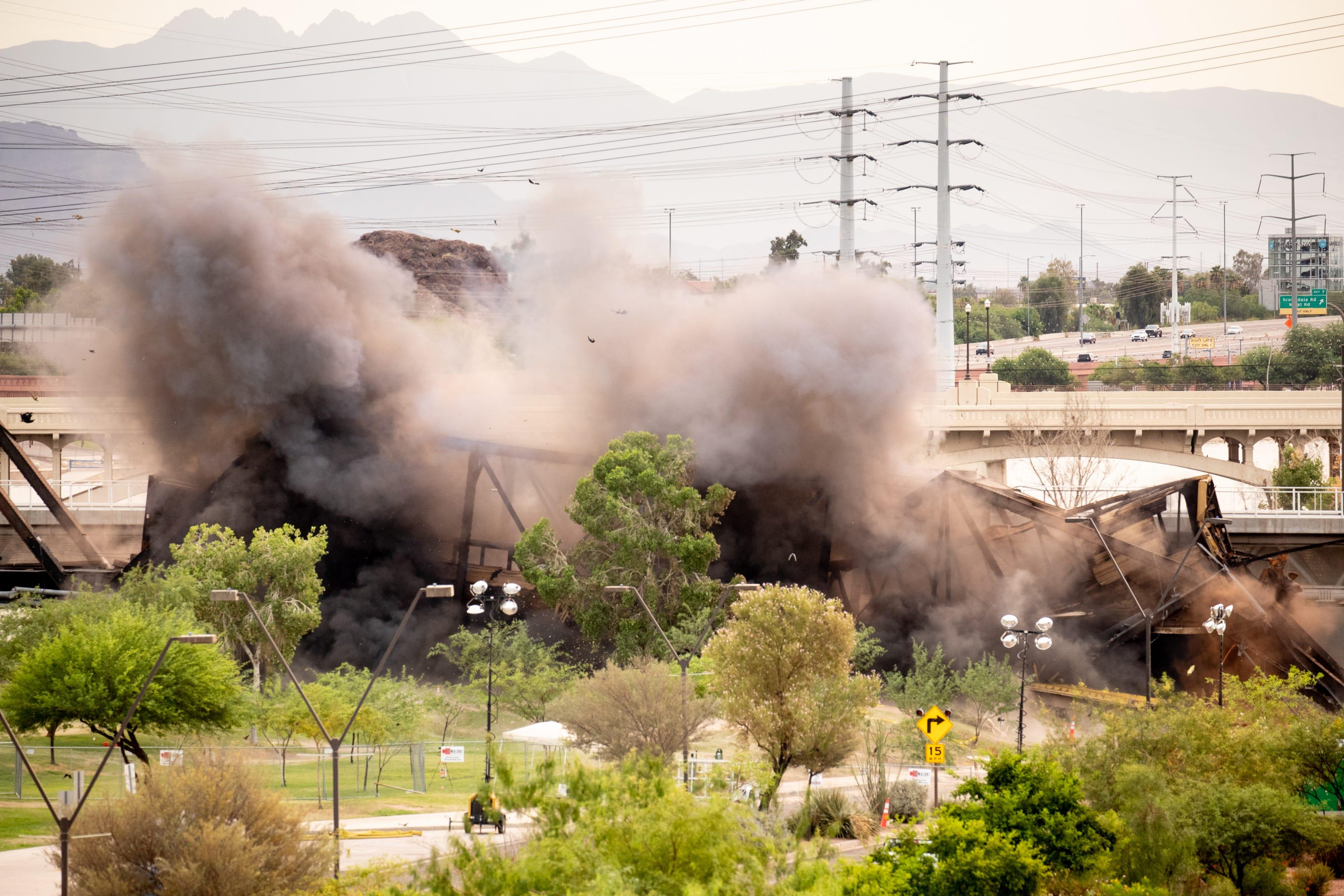 Arizona bridge partially detonated after train derailment; nearby residents asked to evacuate