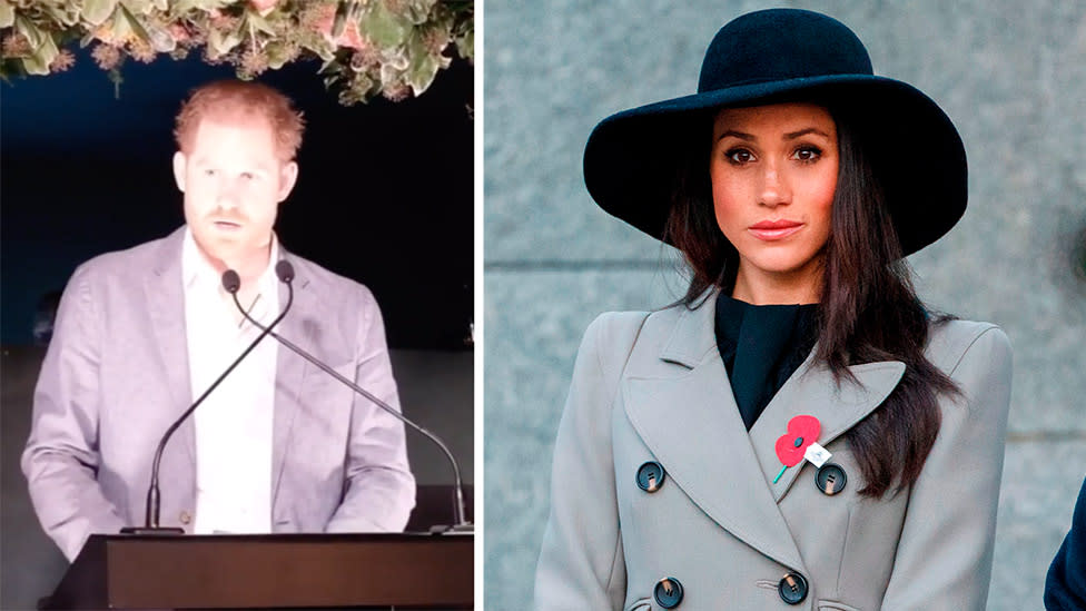 'The same woman I fell in love with': Harry boldly defends Meghan