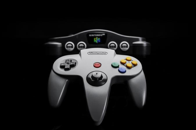 A Nintendo 64 video game console and controller (NUS-005), taken on June 22, 2016. (Photo by James Sheppard/Future via Getty Images)