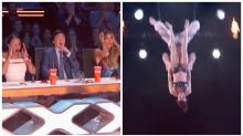 Heart-stopping moment America's Got Talent trapeze stunt goes wrong
