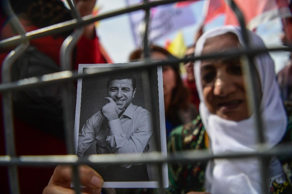 Selahattin Demirtas, who remains an influential and popular figure in the Kurdish movement, is facing multiple criminal proceedings (AFP Photo/OZAN KOSE)