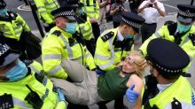 Extinction Rebellion protests: More than 70 arrested in London as demonstrators breach imposed restrictions