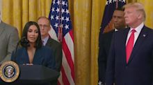 Kim Kardashian admits she had to 'wing it' during her last White House speech