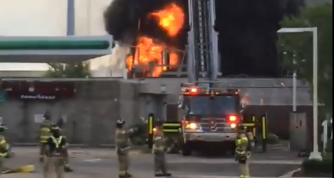 Firefighters Marching At Capitol >> Firefighters Respond To Blaze Near Wisconsin State Capitol Video