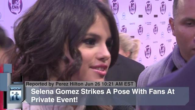 Movies News Pop: Selena Gomez Strikes A Pose With Fans At Private Event!