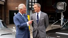 Prince Charles bonds with 007 Daniel Craig on James Bond set