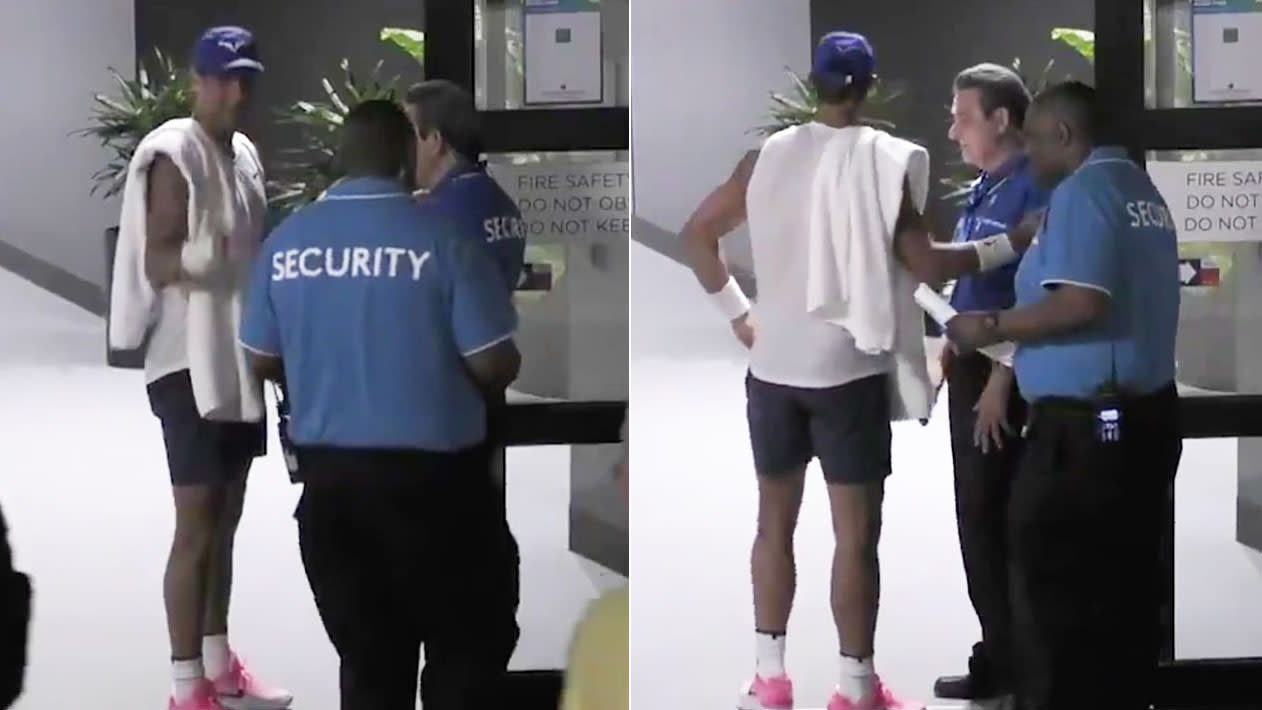 'Embarrassing': Rafael Nadal's hilarious moment with Australian Open security