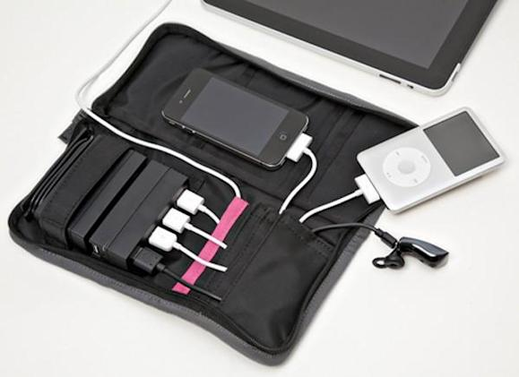 Aviiq Portable Charging Station does kitsch-free USB juicing in small black bag