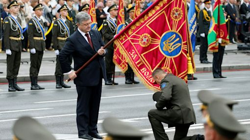 Ukrainian president brands Russia 'an enemy that failed to bring us to our knees'