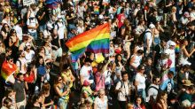 Thousands join Budapest Pride march to protest anti-LGBTQ education law in Hungary