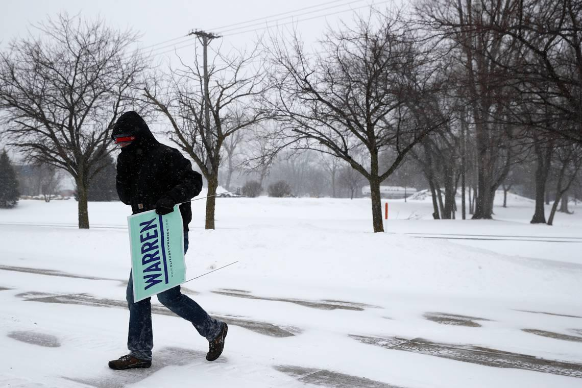 Snow and cold target New Hampshire primary. Will it hurt any 2020 Democrats' chances?