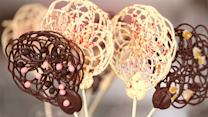 Lovely Chocolate-Lace Lollipops Are Shockingly Easy to Make