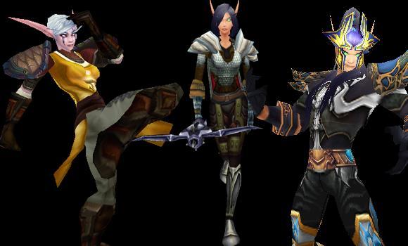 Diablo 3 Transmog Outfits for WoW: Monk, demon hunter, wizard