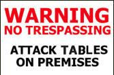 Attack tables and you