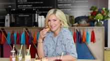 Lisa Faulkner cooks and cleans in her wedding dress to celebrate 6 month anniversary with John Torode
