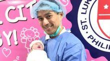 Guji Lorenzana welcomes first baby girl