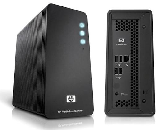 HP MediaSmart Server LX195 lights up in leaked images