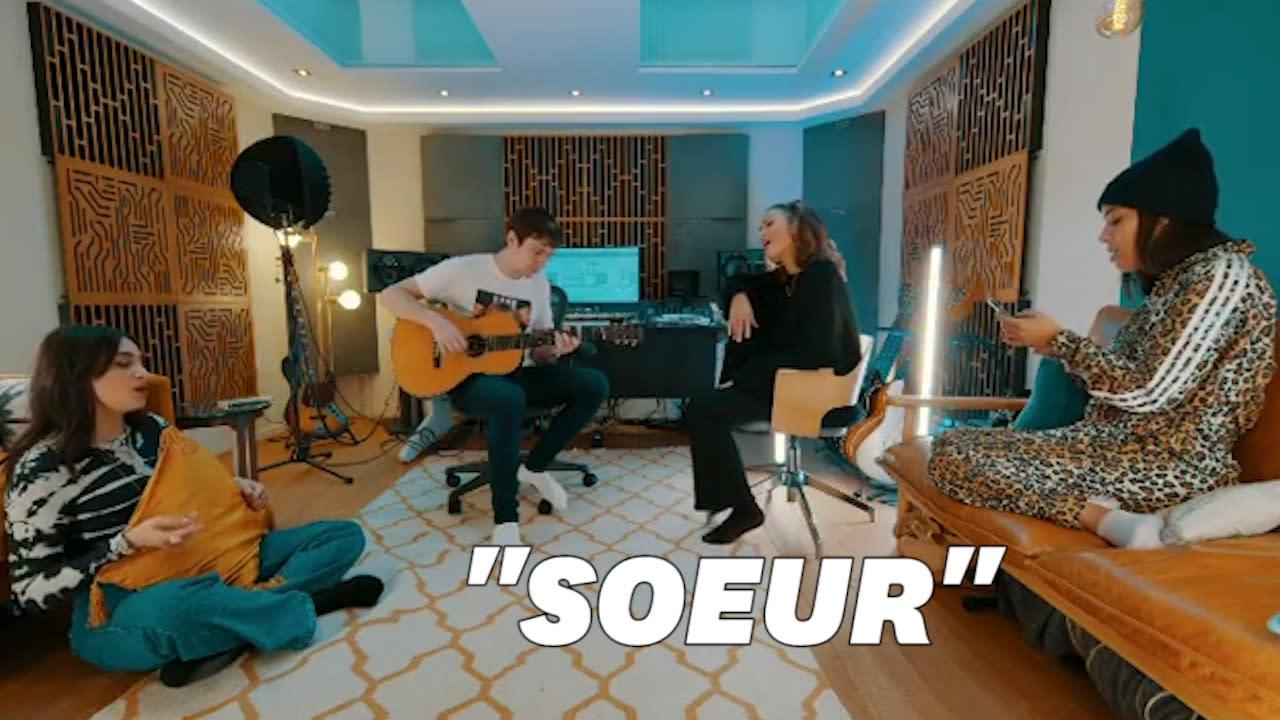 """Camélia Jordana, Vitaa et Amel Bent partagent un extrait de leur reprise de """"Soeur"""""""