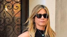 Courteney Cox y Justin Theroux dan la cara por Jennifer Aniston