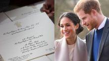 哈里王子與Meghan Markle皇室喜帖曝光!白底金邊設計呈現皇室優雅