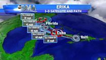 Erika Heads Towards Florida