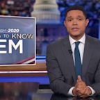 Trevor Noah: Bernie Sanders rubs his hair with a balloon