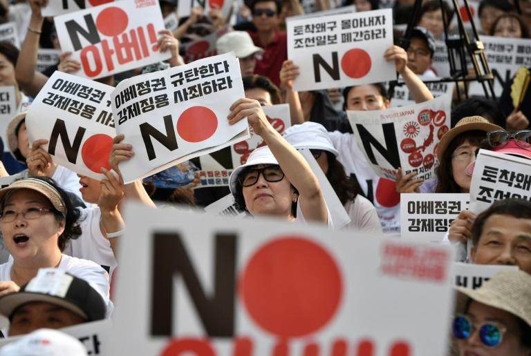 The exercises come as South Korea and Japan remain at loggerheads over Tokyo's use of forced labour during World War II