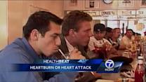 How to tell the difference between a heartburn and a heart attack