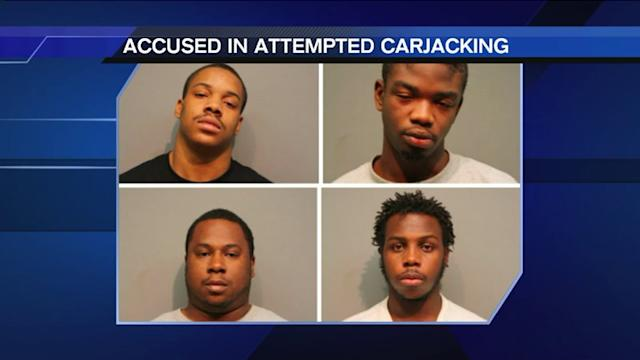 4 men behind bars after attempted carjacking