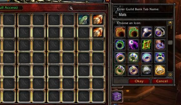 Customize your guild bank icons with this handy script