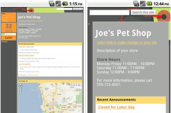Google Sites simplifies iOS and Android viewing with automatic mobile rendering