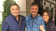 Rishi Kapoor & Neetu Kapoor Meet Rajkumar Hirani in New York