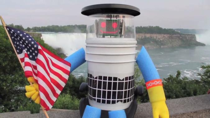 A hitchhiking robot needs your help getting to California