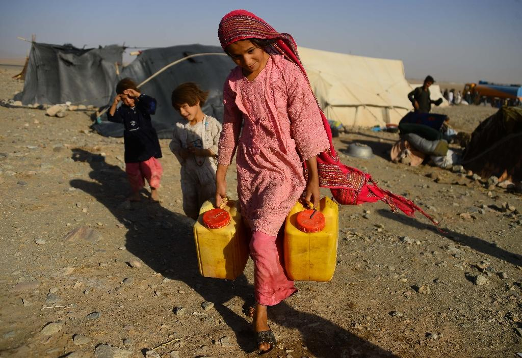 Conditions are miserable in the camps where families displaced by the drought have settled as temperatures drop across the country (AFP Photo/HOSHANG HASHIMI)