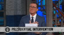 Stephen Colbert holds a 'presidential intervention' for Trump