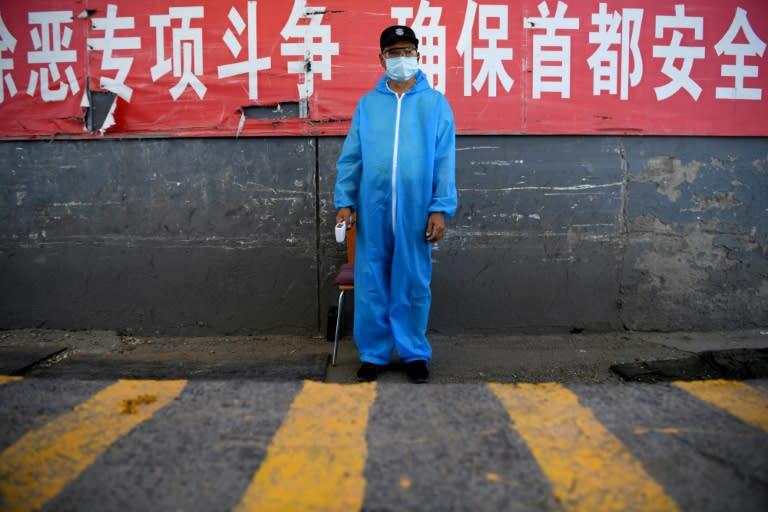 Aa new cluster of coronavirus cases has been linked to Xinfadi market in south Beijing (AFP Photo/NOEL CELIS)