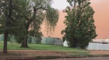 Dust Storm Blows Through Nyngan in Regional New South Wales