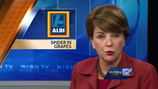 Another black widow spider found in grocery store grapes