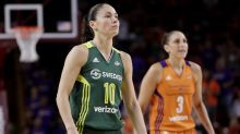 Diana Taurasi and Sue Bird take court in shoes with names of dozens of police brutality victims