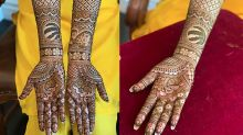 Bride pays tribute to historic NBA Championship with Raptors-themed henna