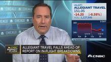 Allegiant falls ahead of TV report on in-flight breakdown...