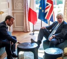 'Sorry!' Johnson puts foot in it at Macron's palace