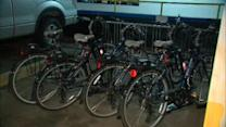 Apartment buildings making bicycles available for residents