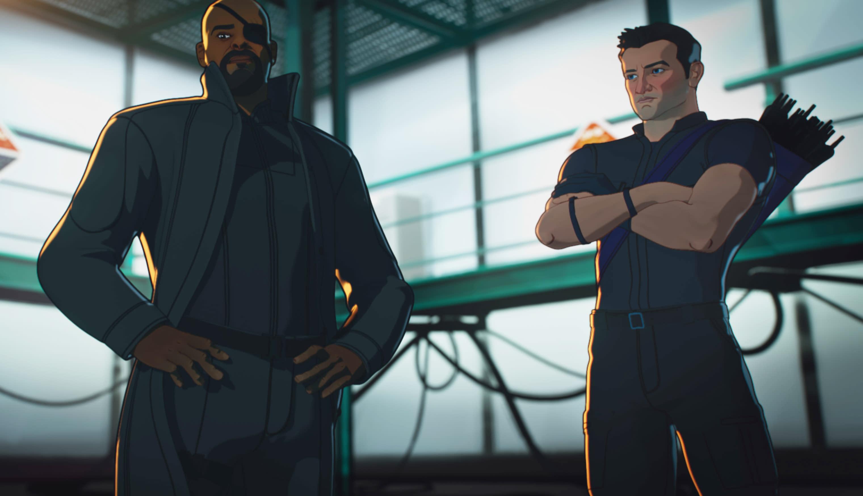 Nick Fury and Hawkeye