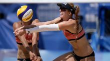 Olympics Latest: US pair knocked out of beach volleyball