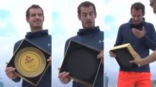 Andy Murray's hilarious trophy presentation gaffe