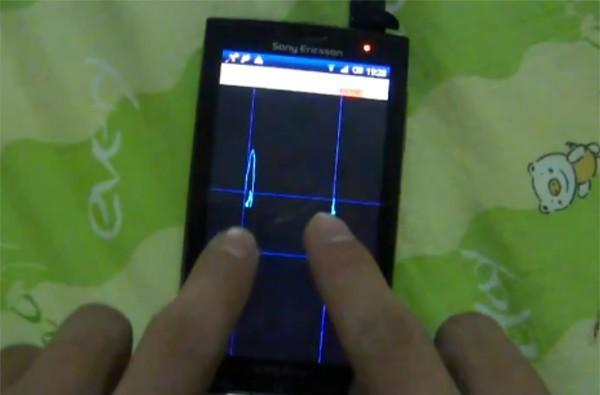 Sony Ericsson Xperia X10 hacked to support multitouch, sort of